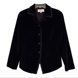 Saks Fifth Avenue Collection Black Velvet Blazer